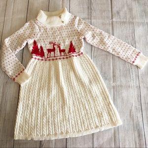 Janie and Jack reindeer sweater dress
